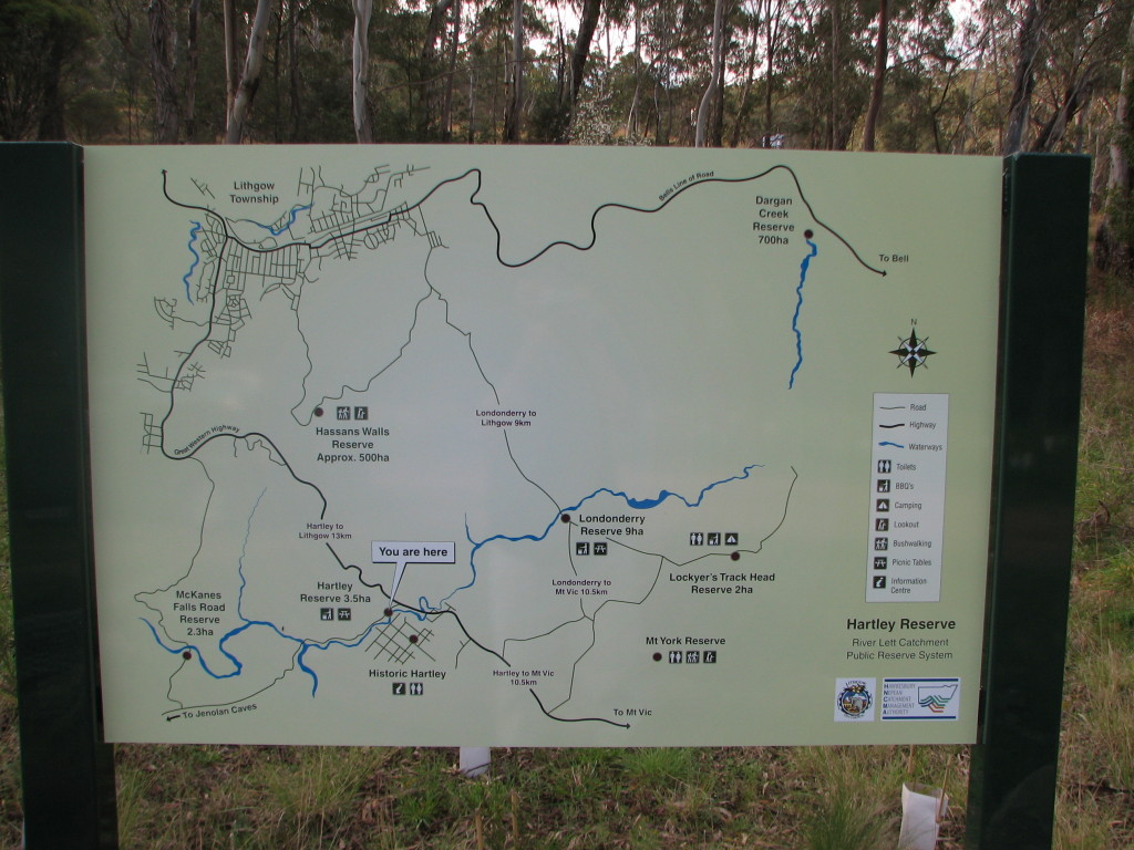 Hartley Reserve Map