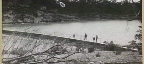 Burraga Dam thanks to State Library of Victoria.